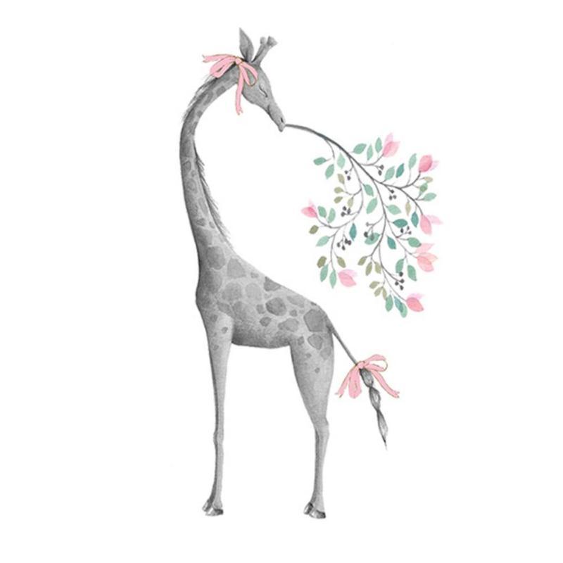 Samolepka Žirafa s mašlí