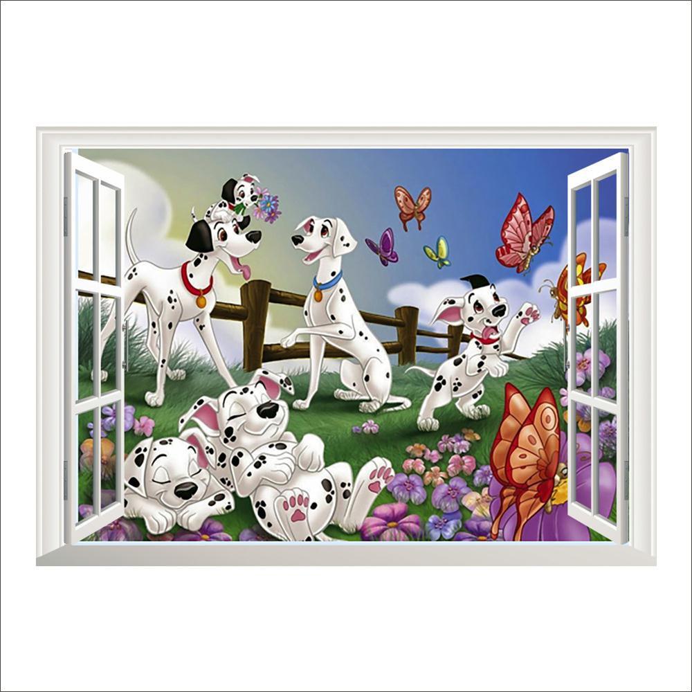 Samolepka 101 Dalmatinů v okně