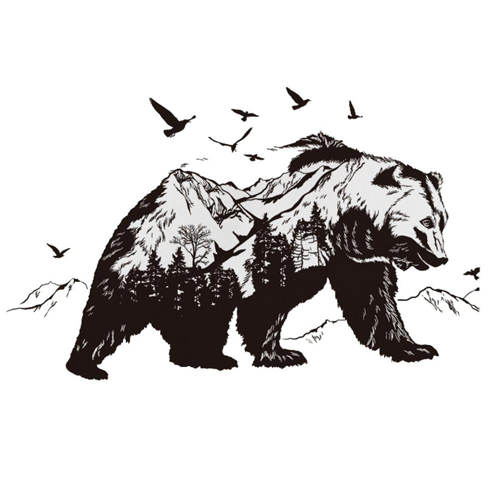Samolepka Medvěd
