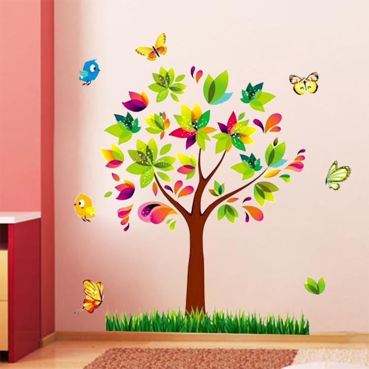 Samolepka Barevný strom