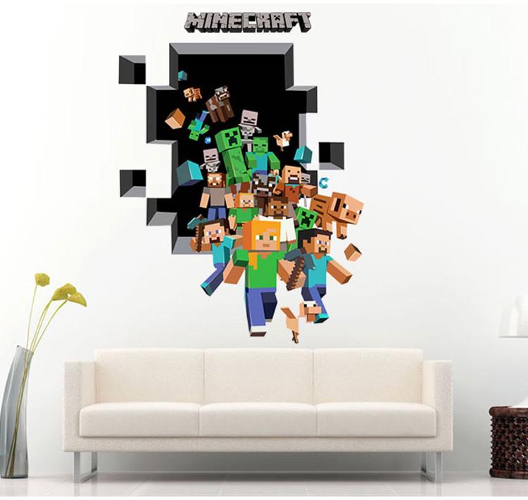 Samolepka Minecraft díra