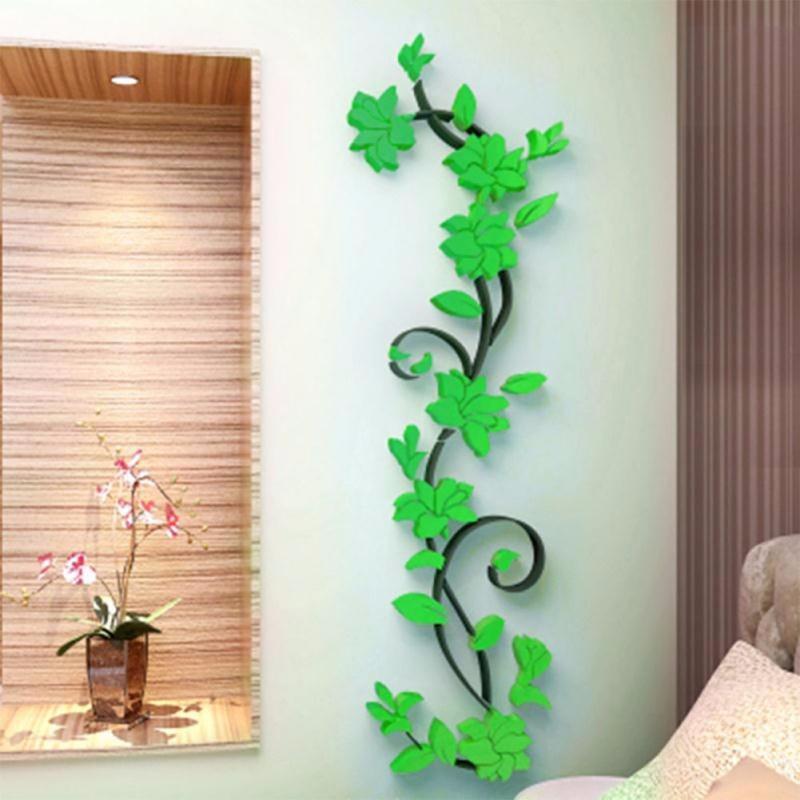 Samolepka 3D Kytky - zelené