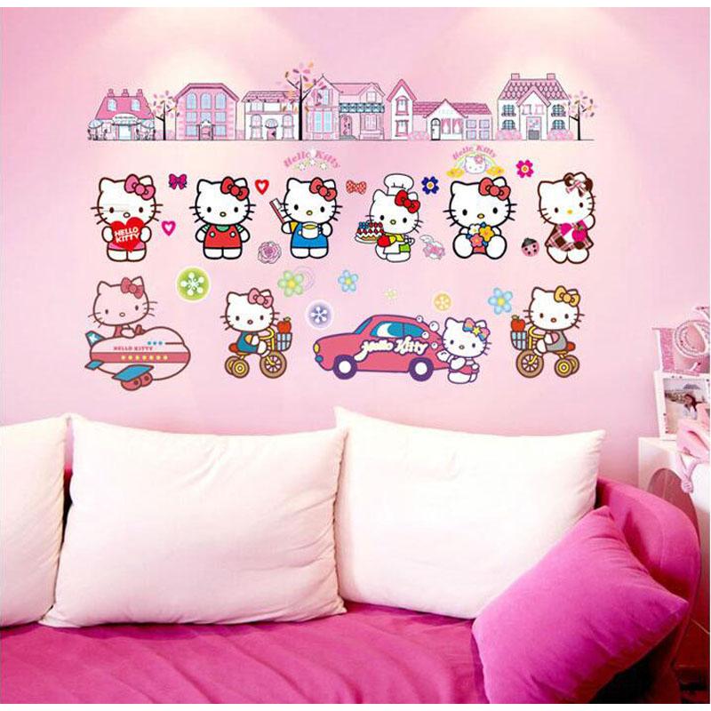 Samolepka Hello Kitty s domečky