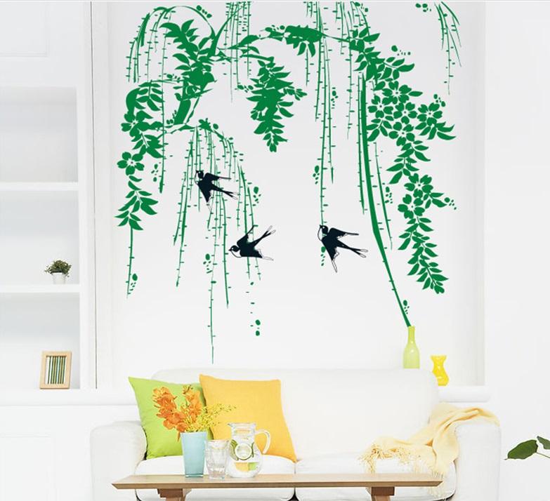 Samolepka Vlaštovky v korunách stromů