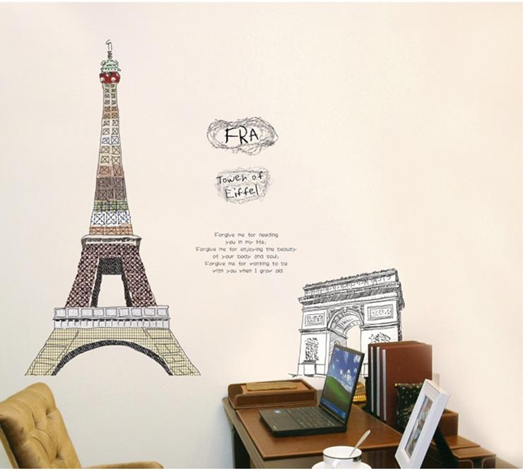 Samolepka Eiffelova věž
