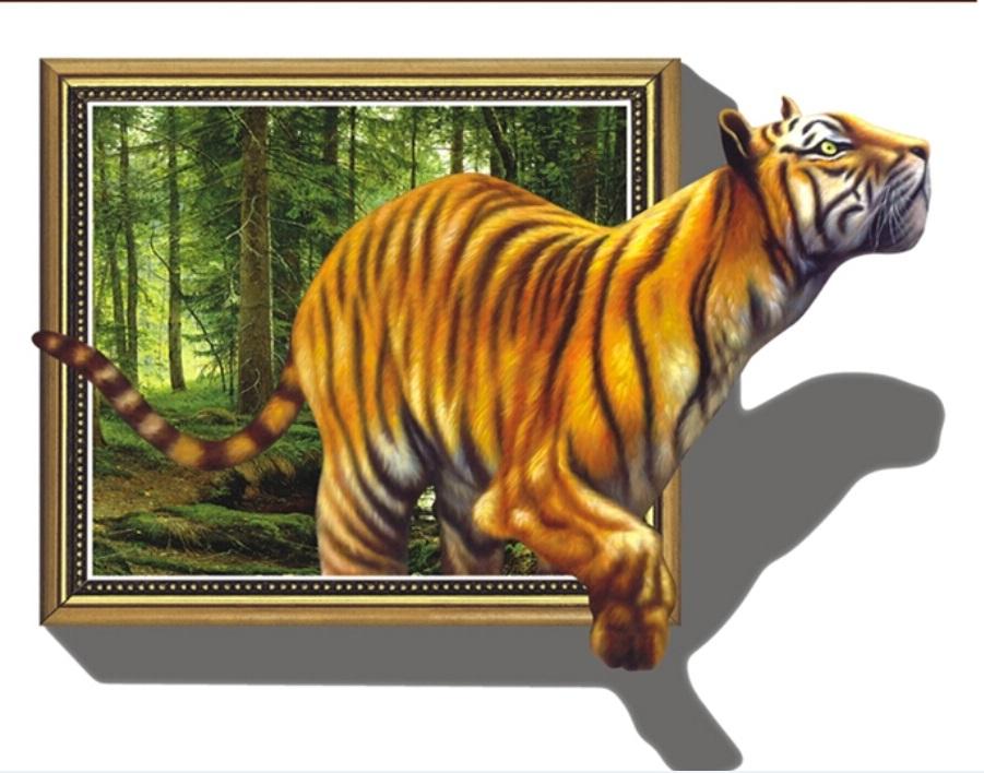 Samolepka Tygr v obraze
