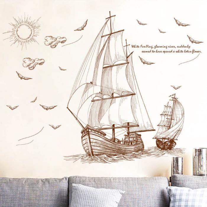 Samolepka Pirátské plachetnice