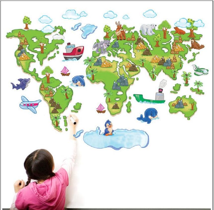 Samolepka Dětská mapa Světa pro děti