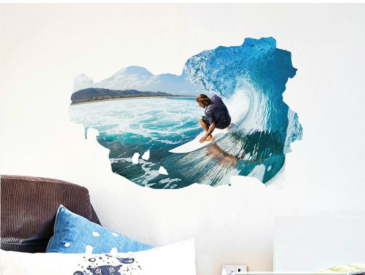 Samolepka Surfař na vlně