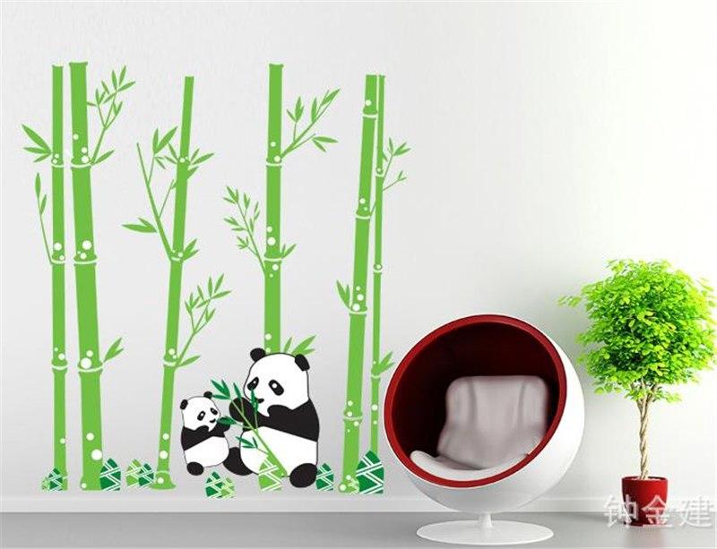 Samolepka Pandí rodinka