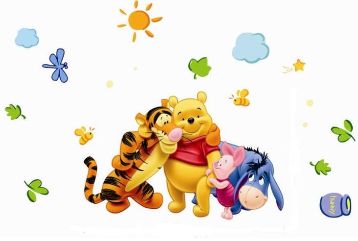 Samolepka Medvídek Pú s přáteli
