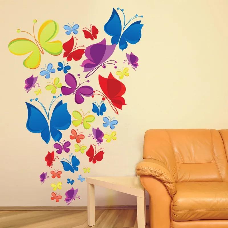 Samolepka Hejno motýlů