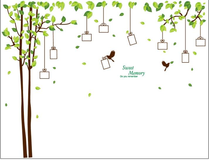 Samolepka Dárkový strom vzpomínek - 2 barvy