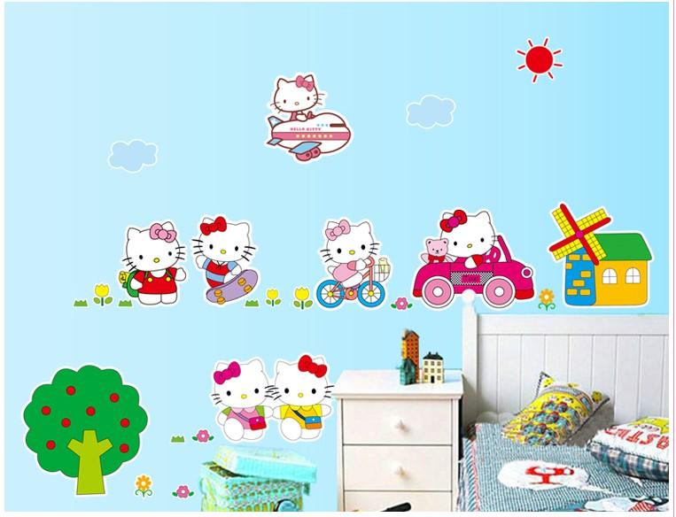 Samolepka Hello Kitty na výletě