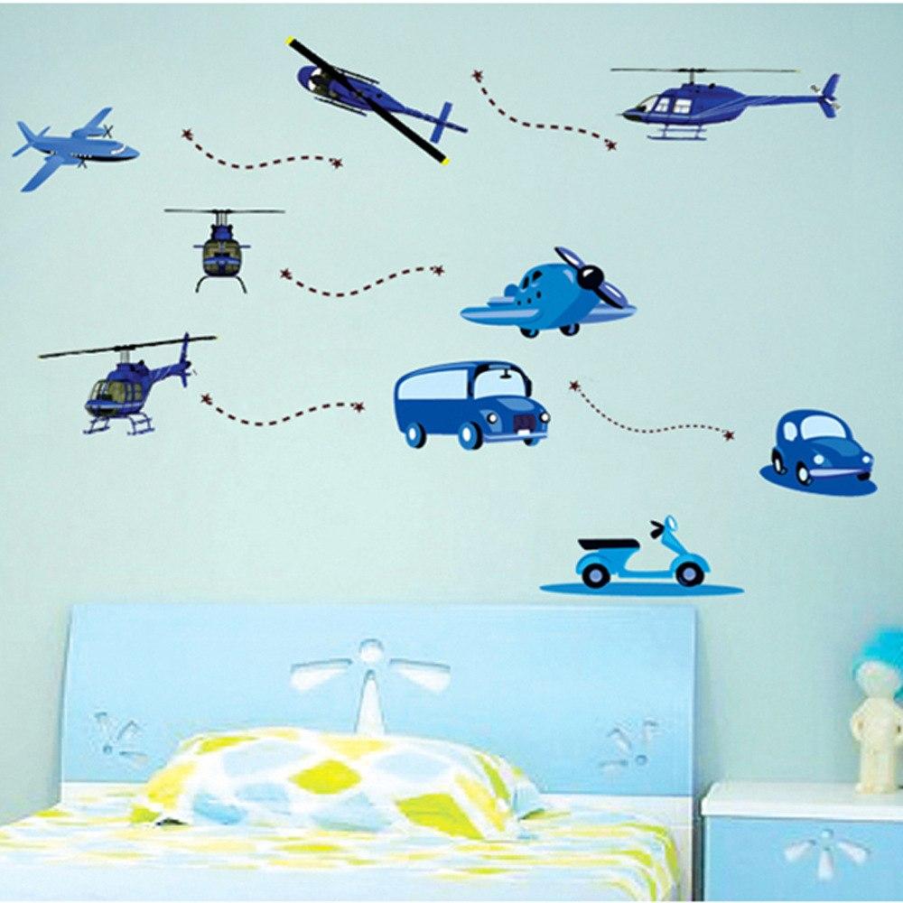 Samolepka Modré dopravní prostředky