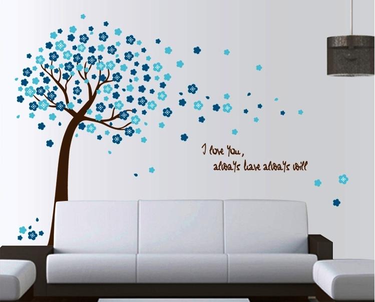 Samolepka Modrý strom