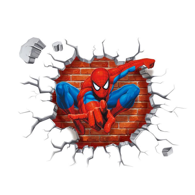 Samolepka Spiderman ze zdi