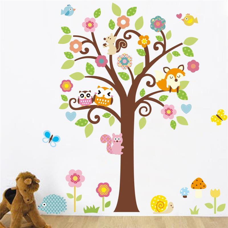 Samolepka Strom se zvířátky