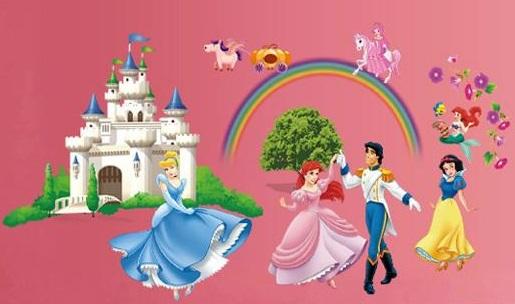 Samolepka Disney zámek