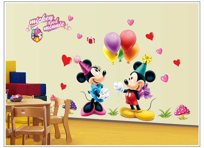 Samolepka Mickey Mouse a Minnie