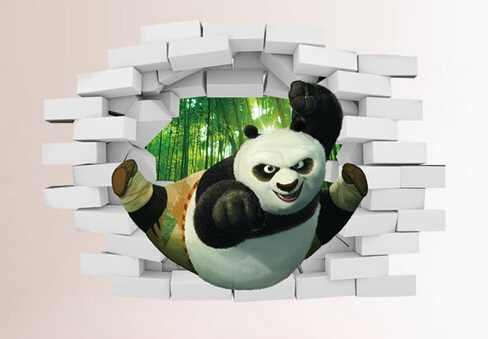 Samolepka 3D Kung-Fu Panda