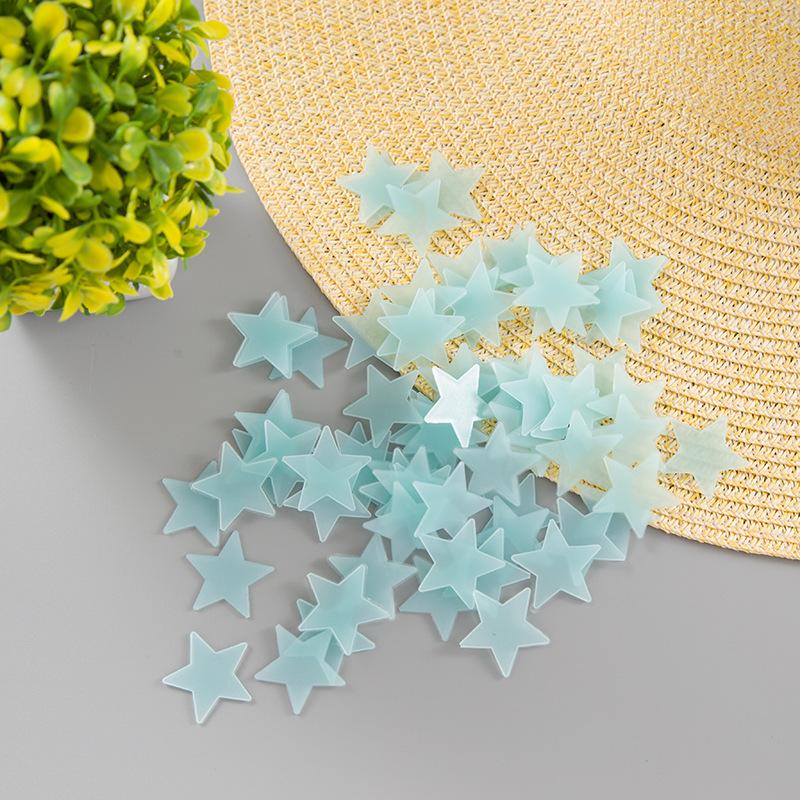 Svítící fosforové modré hvězdičky 80 ks