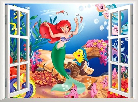 Samolepka Ariel mořská panna