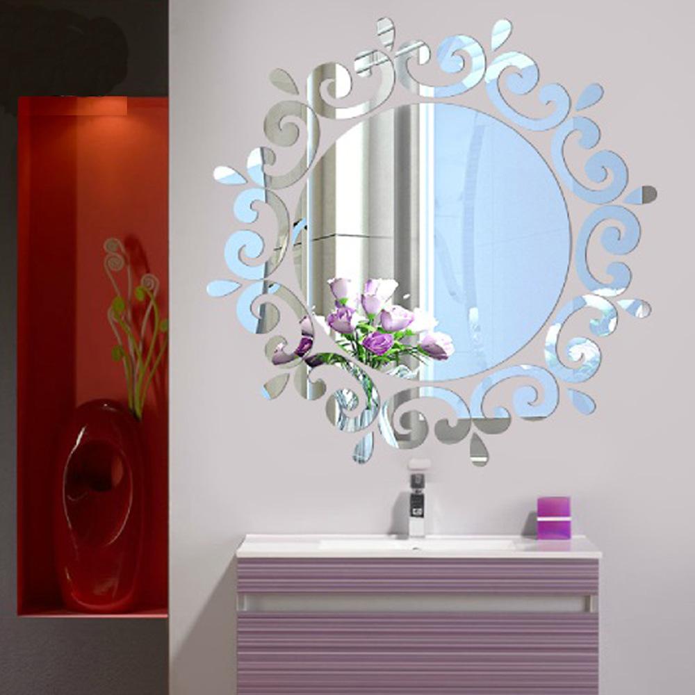 Samolepicí zrcadlo kulaté - 2 barvy