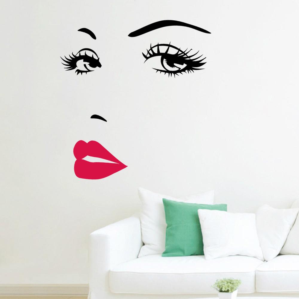 Samolepka Dívčí tvář Art styl