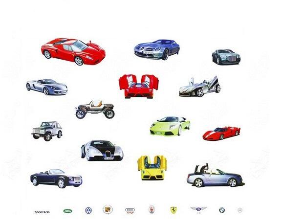 Samolepka Luxusní auta