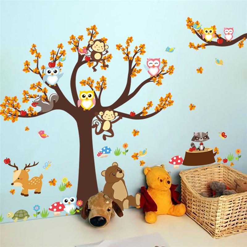 Samolepka Strom a zvířátka