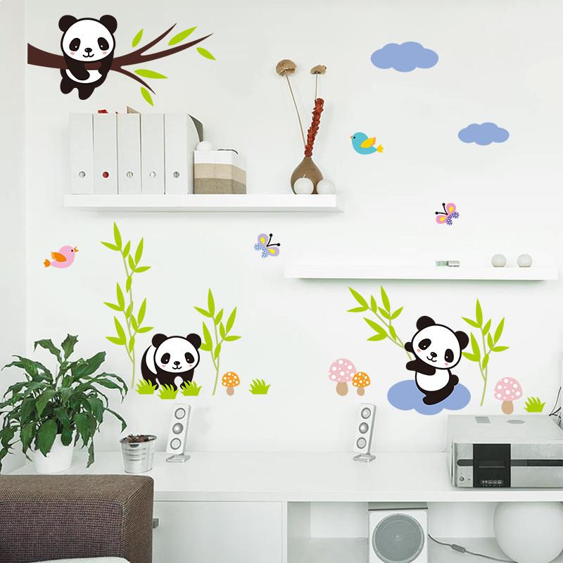 Samolepka Hravá panda