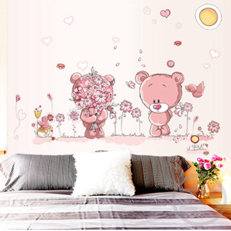 Samolepka Růžoví medvídci