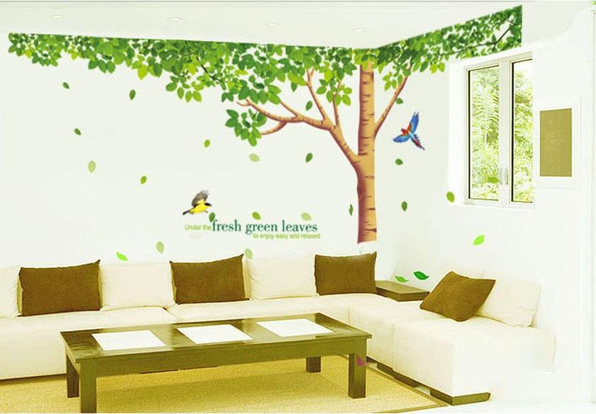 Samolepka Zelený listnatý strom