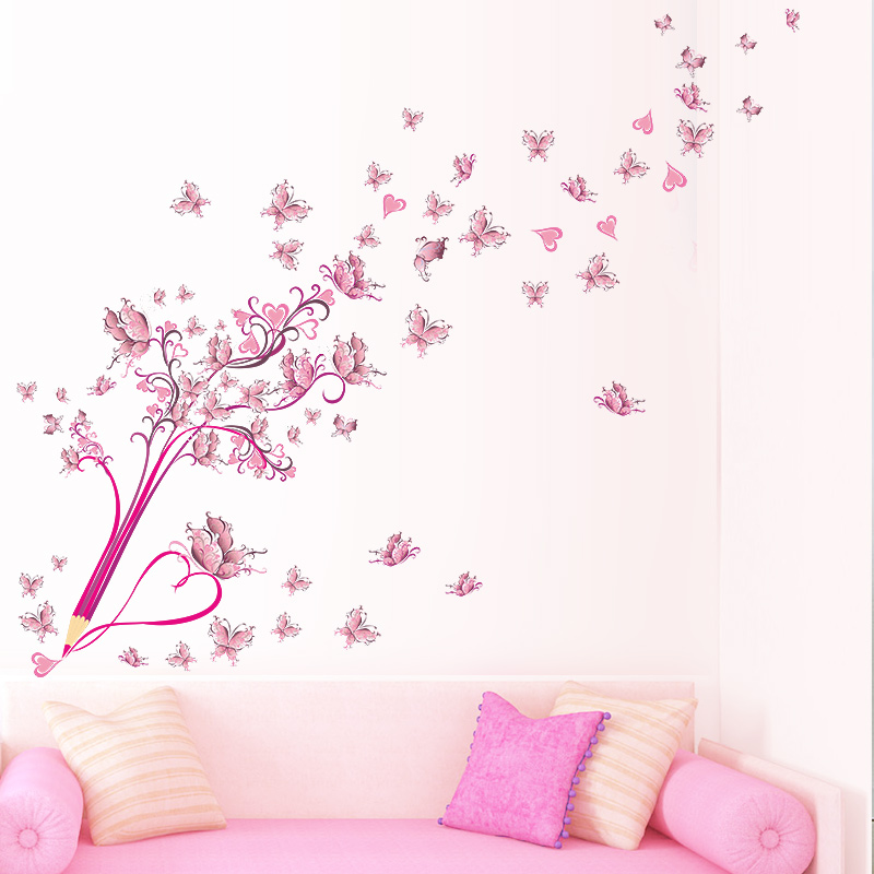 Samolepka Pastelka s motýlky