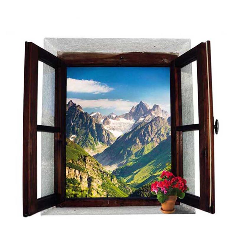 Samolepka Okno s výhledem na hory