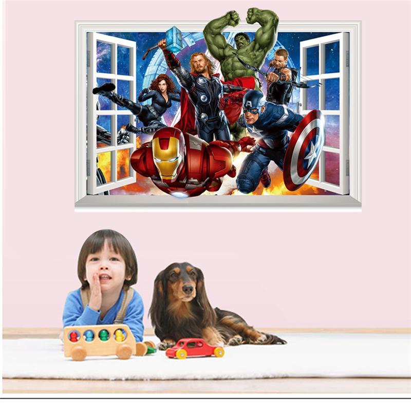 Samolepka Avengers v okně